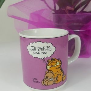 Garfield Vintage 1978 Pink Friendship Coffee Mug